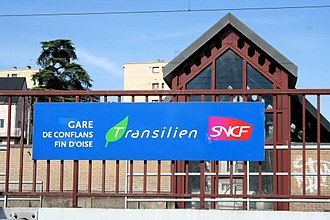 Conflans–Fin d'Oise station - Image: GM gare conflant fin d oise 02s