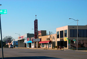 Main Street in Grand Prairie, Texas, featuring...