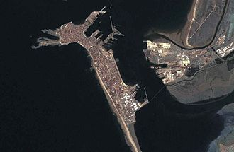 Cádiz - Satellite view of Cádiz