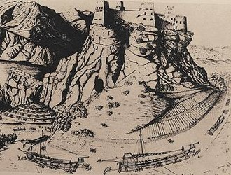 Nago–Torbole - 15th century print of Venetian ships.