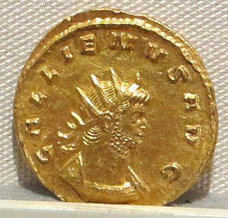 Lava Treasure - Aureus of Gallienus, similar to the numerous examples found in Lava