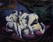 Illustration du roman Gamiani attribué à Alfred de Musset