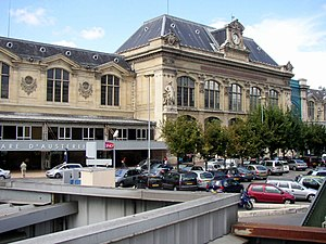 Entrance of Gare d'Austerlitz.