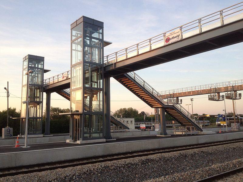Nouveaux aménagements gare de Laon en 2011-2012