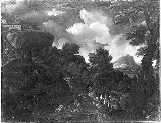 Landschaft mit Christus und den Emmaus-Jüngern (Umkreis)