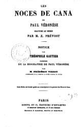 Théophile Gautier: les noces de Cana de Paul Véronèse