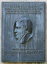 Gedenktafel Jägerstr 22-23 (Mitte) Friedrich Wilhelm Alexander von Humboldt