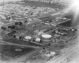 Geelong Gas Company - Overview of the North Geelong gasworks in 1926