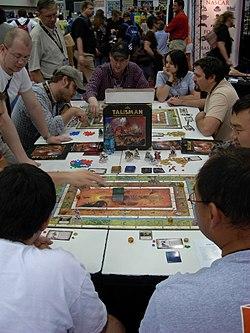 Gen Con Indy 2007 exhibit hall - board game (Talisman) demo - 01.JPG