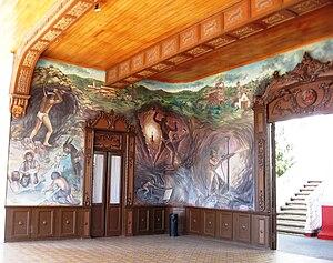 "El Oro de Hidalgo - Mural ""Genesis of the Miner by Manuel D´Rugama"