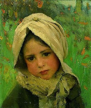 George Clausen - Image: George Clausen girl