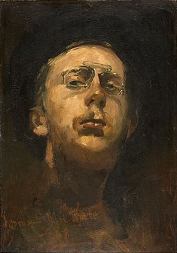 George Hendrik Breitner - Self-portrait with pince-nez - Google Art Project