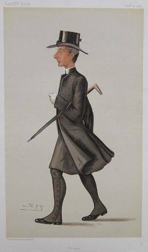 "George Wilkinson (bishop) - ""Truro"" Bishop Wilkinson as caricatured by Spy (Leslie Ward) in Vanity Fair, December 1885"