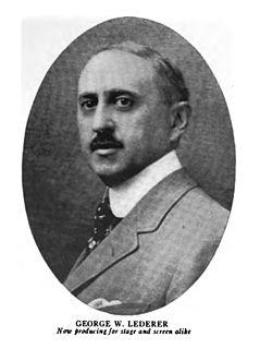 George Lederer American Broadway producer and director