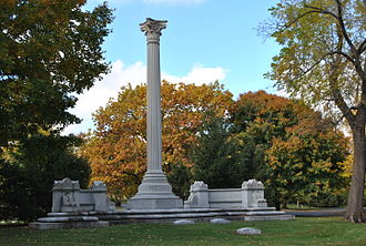 George Pullman - Tomb of George Pullman at Graceland Cemetery in Chicago.