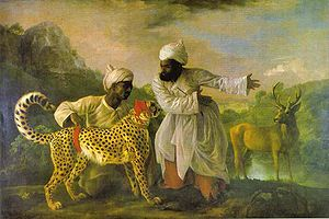 George Stubbs Cheetah with Two Indian Attendants and a Stag.JPG