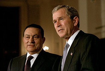 English: President George W. Bush and Egyptian...