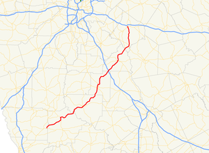 Georgia State Route 36 - Image: Georgia state route 36 map