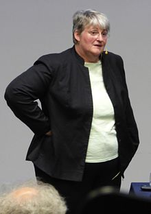 Geraldine Thomas lecturing in Adelaide, South Australia