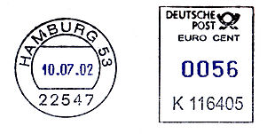 Germany stamp type RB25 black blue.jpg