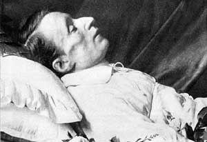 Giacomo Leopardi - Leopardi on his deathbed, 1837.