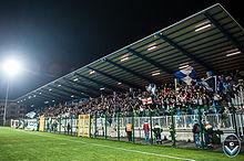 Pubblico allo stadio di Gorgonzola in occasione della partita Giana Erminio-Unione Venezia del 21 marzo 2015.