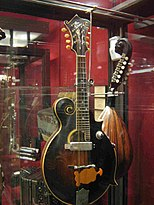 Gibson mandolin modified with Russian electric pickup