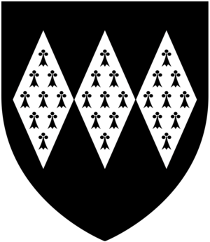 Halsbury - Arms of Giffard of Halsbury: Sable, three fusils conjoined in fesse ermine