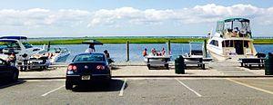 Gilgo, New York - The Great South Bay looking toward Long Island from Gilgo Beach