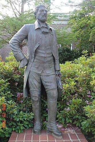 Antonio Gil Y'Barbo - Statue of Antonio Gil y Barbo, Plaza Principal, Nacogdoches, erected in 1997