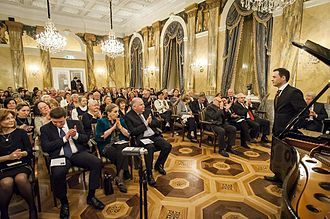Giorgi Latso - Giorgi Latso giving performance at the historic Imperial Hotel Vienna, February 2016