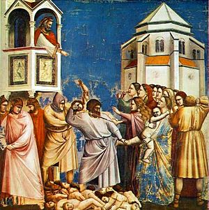 The Massacre of the Innocents by Giotto. 1304-...