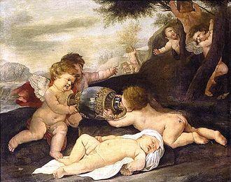 Giovanni Andrea Podestà - Putti in a Landscape