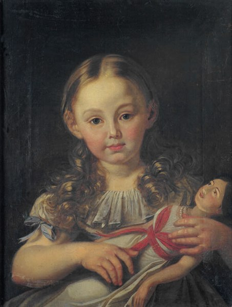 Ficheiro:Girl with doll German ca 1800.jpg