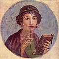 Girl with stylus and tablets.Fresco found in Pompei.jpg