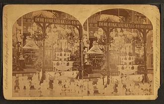 New England Glass Company - Display of New England Glass Co., 1876