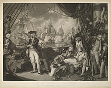 The Celebrated Victory Obtained By British Fleet Under Command Of Earl Howe Over French On Glorious First June 1794