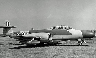 No. 151 Squadron RAF - 151 Squadron Gloster Meteor NF.11 night fighter in September 1955