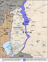 Karte Golanhöhen nach dem Jom-Kippur-Krieg