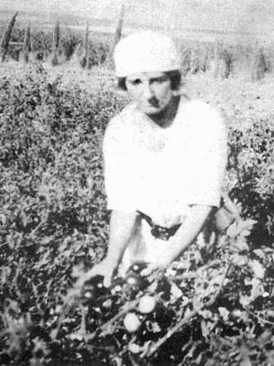 Merhavia (kibbutz) - Golda Meir in the fields at Kibbutz Merhavia in the 1920s