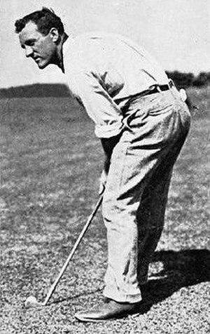 Jack Hobens - Image: Golfer Jack Hobens (1880 1944) prepares to hit a chip shot