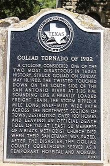 1902 Goliad Texas Tornado Wikipedia