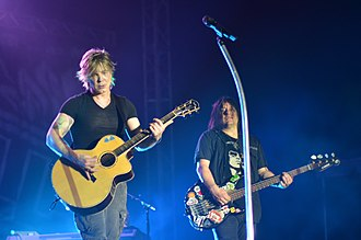 Goo Goo Dolls - Goo Goo Dolls in 2013. From left to right: Johnny Rzeznik, Robby Takac
