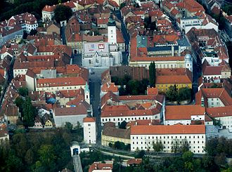 Gradec, Zagreb - View from the south
