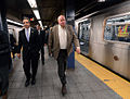 Gov. Cuomo & Chairman Prendergast Ride E Train (15359876605).jpg