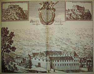Herbard VIII von Auersperg - Auersberg Castle, Valvasor 1689