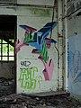 Graffiti, Huncoat Power Station - geograph.org.uk - 849020.jpg