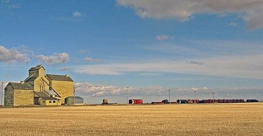 Grain elevator in Skiff Alberta