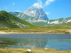 Gran Sasso d'Italia - Gran Sasso mountain, the highest peak in the Apennines