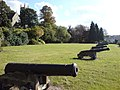 Grassed Area and Cannons, near River Medway - geograph.org.uk - 577193.jpg